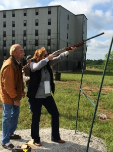 Me getting a shot off, and hitting the target. I am woman, hear me roar!