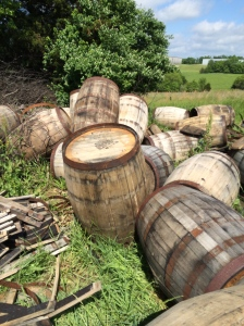 The barrel grave yard.
